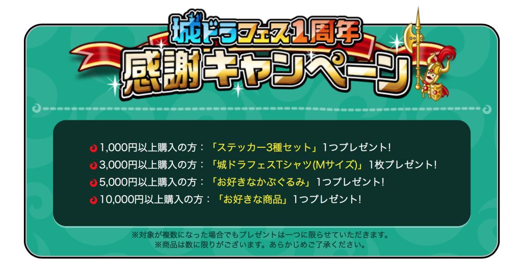 城ドラフェス 東京 キャンペーン