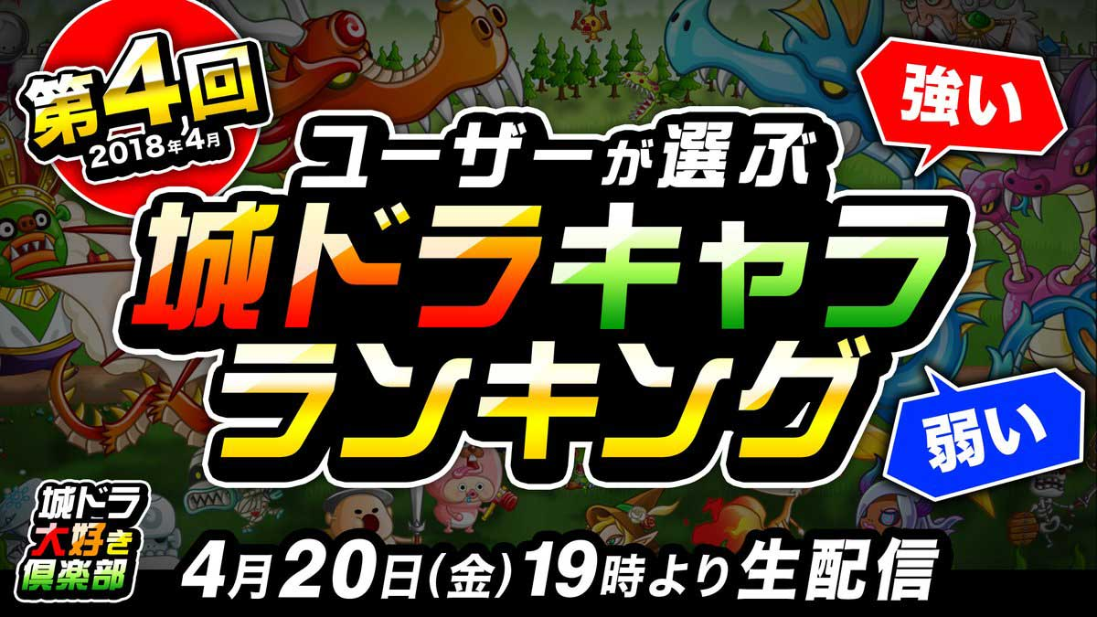 【城ドラ】第4回ユーザーが選ぶキャラランキング結果発表!!ランキング上位はあのキャラ!【城とドラゴン】